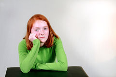 Depressed Ginger Stock Photography