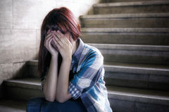 Depressed girl Royalty Free Stock Image