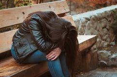 Depressed girl Stock Image