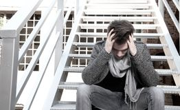 Depressed guy Stock Image
