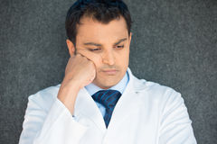 Depressed healthcare professional Stock Photography