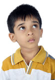 Depressed Indian Boy Looking up Royalty Free Stock Images