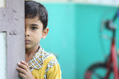 Depressed Indian Little Boy. With Expression Royalty Free Stock Photos