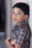 Depressed Indian Little Boy. Looking at Camera Stock Images