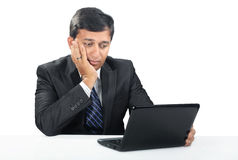 Depressed Indian Young Businessman Stock Photography