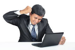 Depressed Indian Young Businessman Royalty Free Stock Images