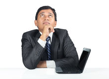 Depressed Indian Young Businessman Royalty Free Stock Photos