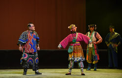 "Depressed kid-Peking opera ""Little Worriors of Yeuh's family"" Royalty Free Stock Image"