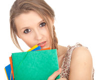 Depressed lady student Royalty Free Stock Images