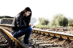 Depressed and Lonely Teenage Girl Stock Photography