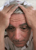 Depressed man. Close-up of a man looking sad or depressed Royalty Free Stock Images