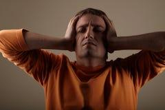 Depressed man Stock Images