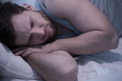 Depressed man after break up Stock Image