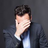 Depressed man Royalty Free Stock Images
