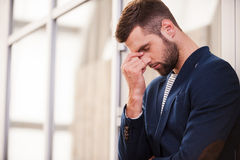 Depressed man. Royalty Free Stock Photo