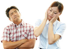 Depressed man and woman Royalty Free Stock Photos