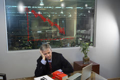 Depressed manager stock photography