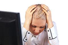 Depressed office worker Stock Photos