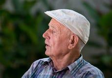 Depressed old man Stock Image
