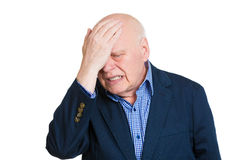Depressed old man Stock Image
