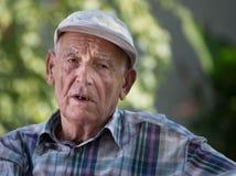 Depressed old man Royalty Free Stock Photo