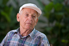 Depressed old man Royalty Free Stock Photography