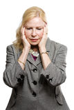 Depressed older business woman Stock Photography