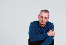 Depressed older man Royalty Free Stock Photos