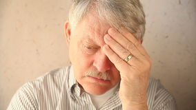 Depressed older man Stock Image