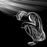 Depressed Person stock illustration