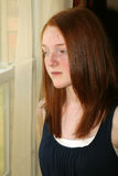 Depressed preteen girl Royalty Free Stock Photography