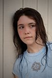 Depressed sad teen royalty free stock images