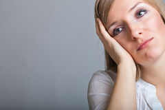 Depressed, sad woman Royalty Free Stock Photo