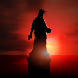 Depressed Satue of Liberty Stock Photo