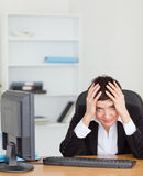 Depressed secretary Stock Image