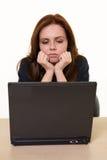 Depressed Secretary Stock Image