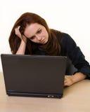 Depressed Secretary Stock Photo