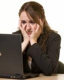 Depressed Secretary Royalty Free Stock Photos