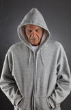 Depressed Senior. An elderly man looking depressed royalty free stock photos