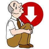 Depressed Senior Investor Stock Photography