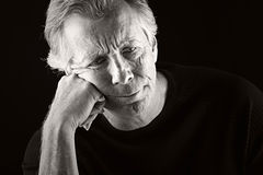 Depressed Senior Man Stock Images