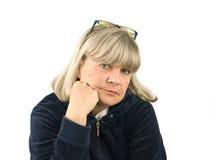 Depressed Senior Woman Royalty Free Stock Images