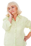Depressed senior woman. Royalty Free Stock Photography