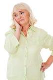Depressed senior woman. royalty free stock photography