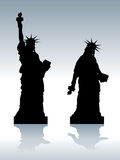 Depressed Statue of Liberty Royalty Free Stock Photography