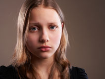 Depressed teen girl Royalty Free Stock Photo