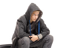 Depressed teenage boy Royalty Free Stock Photo