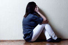 Depressed teenage girl Royalty Free Stock Images
