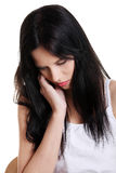 Depressed teenage girl. royalty free stock photo