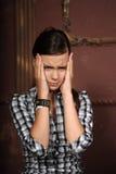 Depressed teenage girl Stock Photos